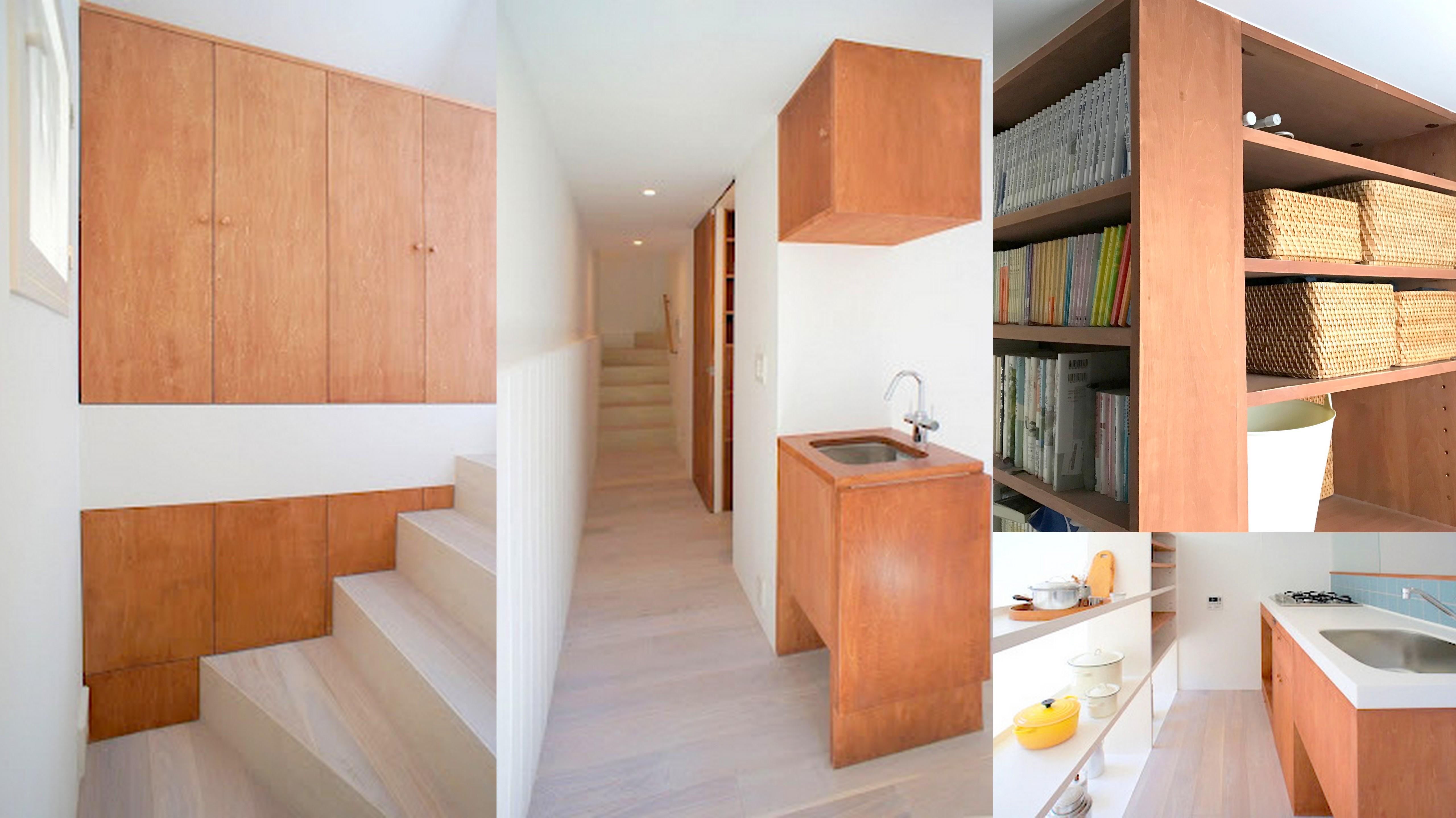 7坪ハウスの家具はほぼ造作。小さな家の床面積を最大限に利用するには、置き型家具の断捨離が必須!?