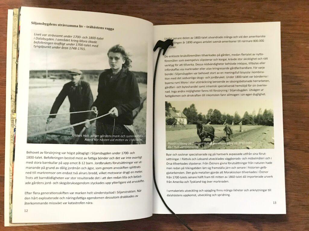 7坪ハウスFika シンボル ダーラナホース ダーラヘスト Dalahäst1940年代の馬と人々の暮らし (『Dalahästens vagga En samlares dröm』より)
